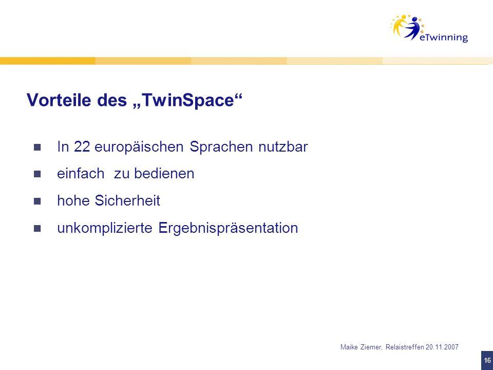 "Vorteile des ""TwinSpace"