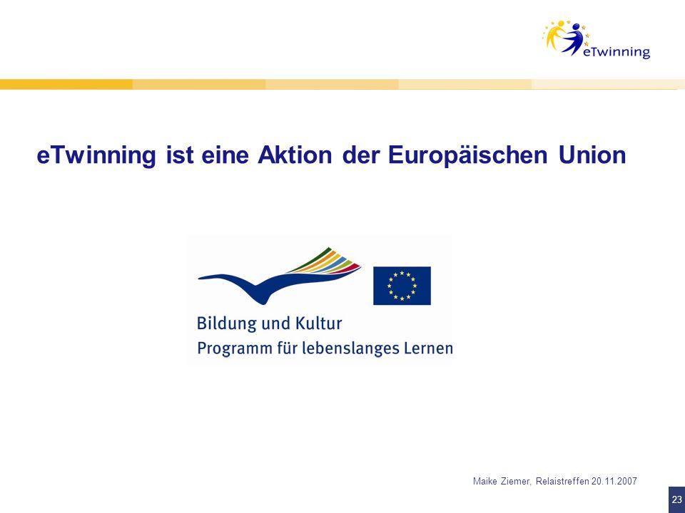 eTwinning ist eine Aktion der Europäischen Union