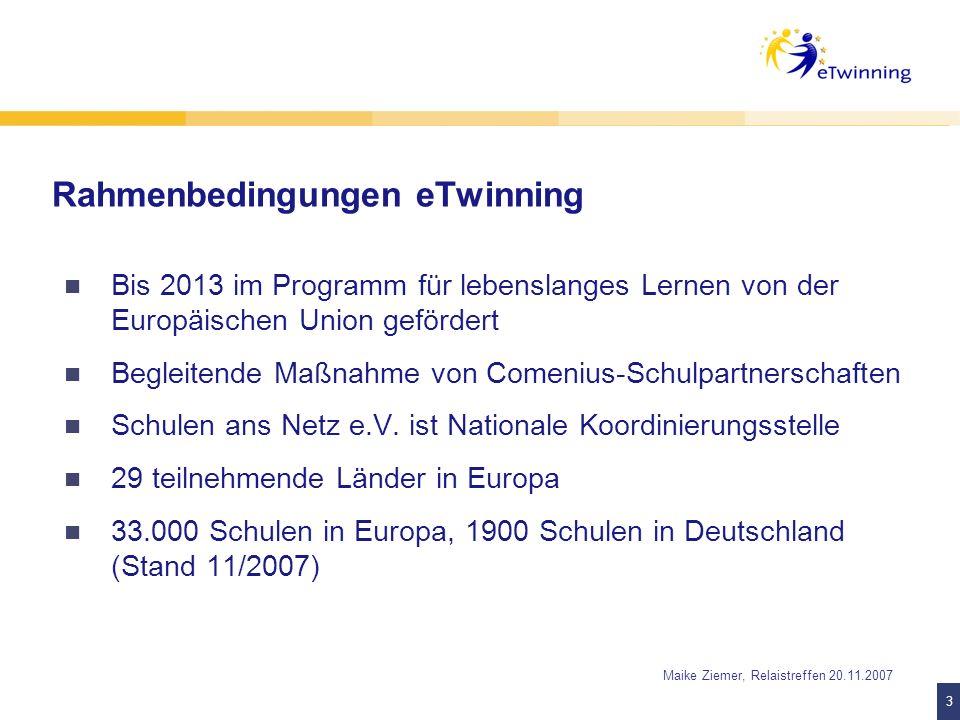 Rahmenbedingungen eTwinning