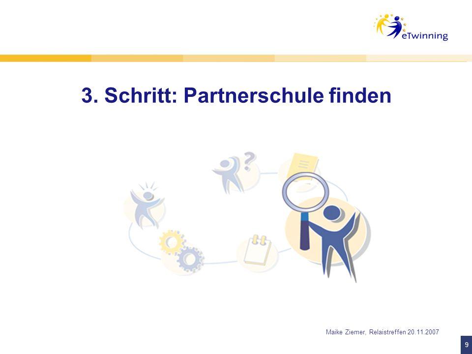 3. Schritt: Partnerschule finden