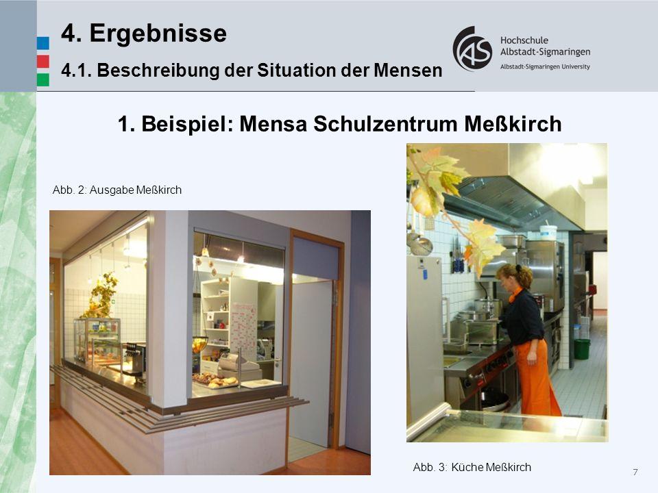 1. Beispiel: Mensa Schulzentrum Meßkirch