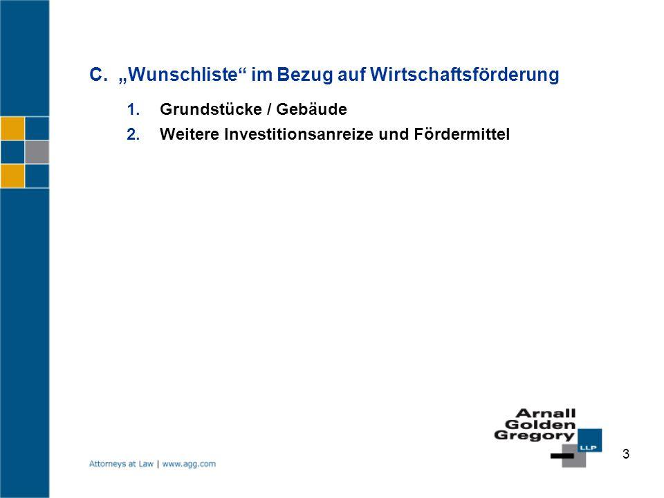 """C. """"Wunschliste im Bezug auf Wirtschaftsförderung"""