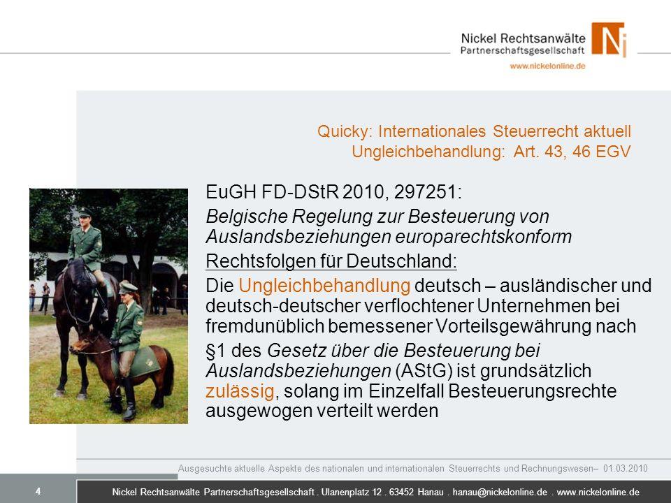 Rechtsfolgen für Deutschland: