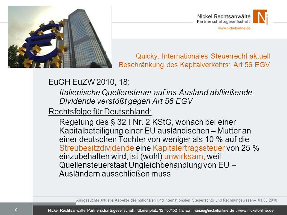 Rechtsfolge für Deutschland: