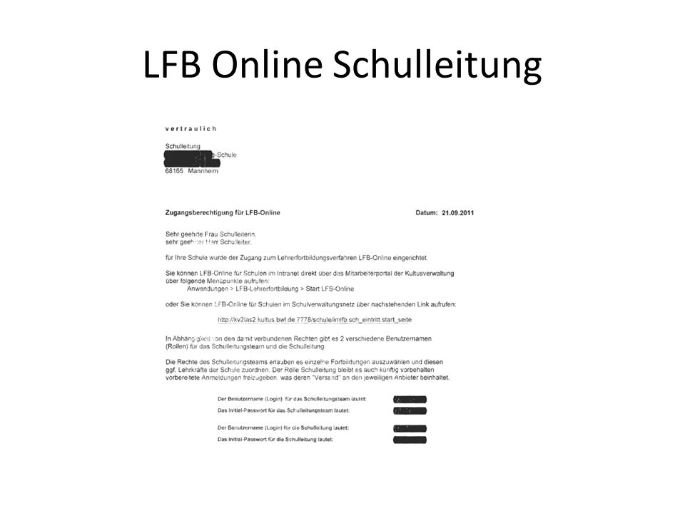 LFB Online Schulleitung