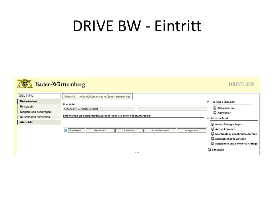 DRIVE BW - Eintritt