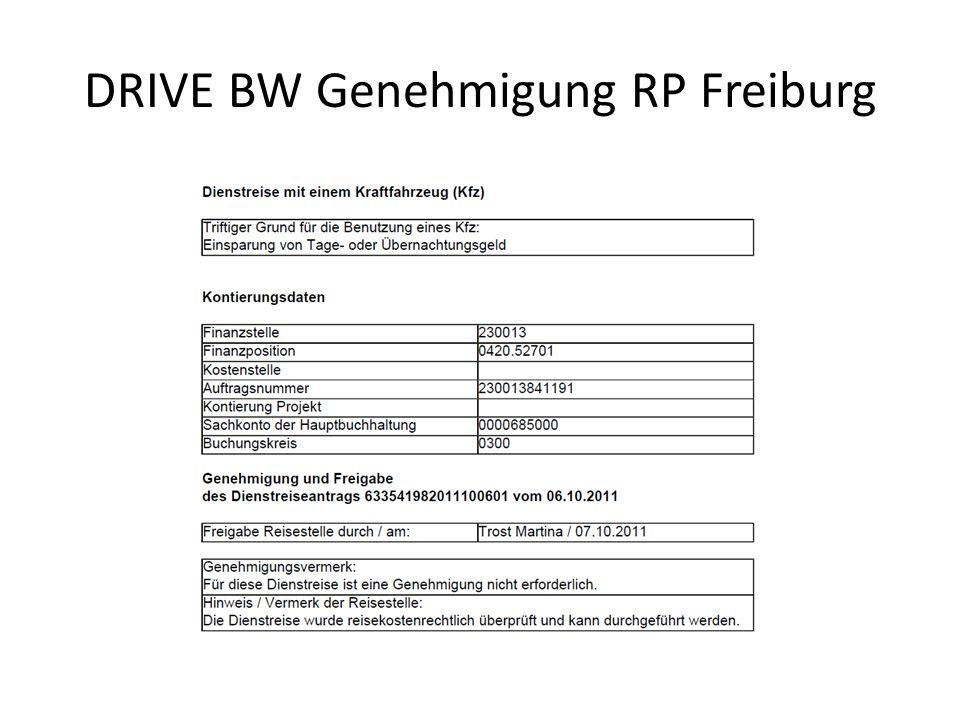 DRIVE BW Genehmigung RP Freiburg