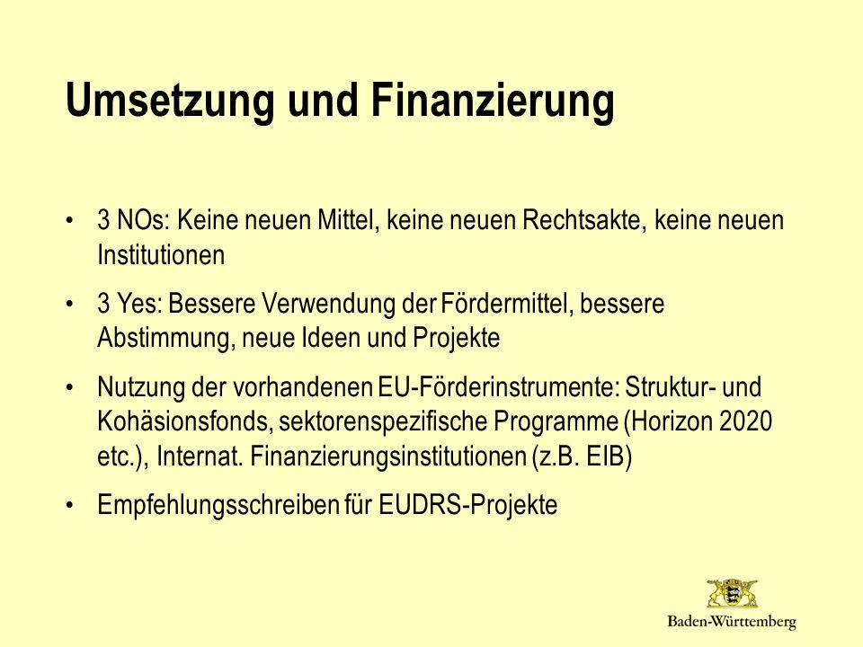 Umsetzung und Finanzierung