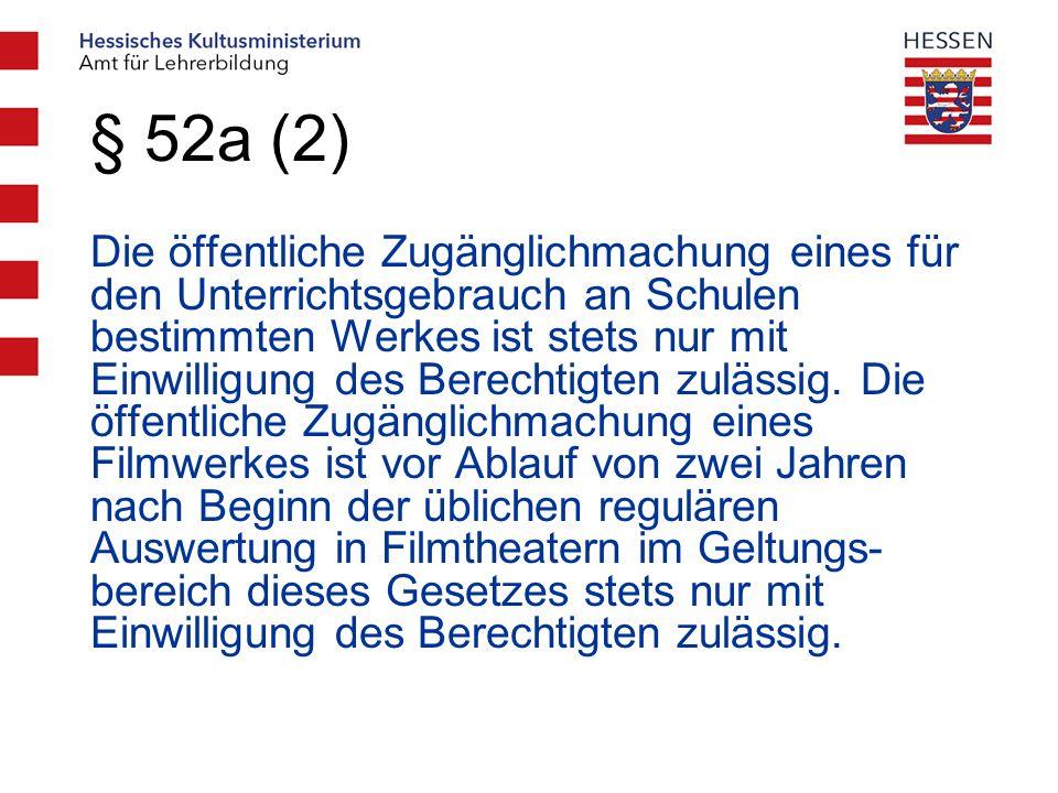 § 52a (2)