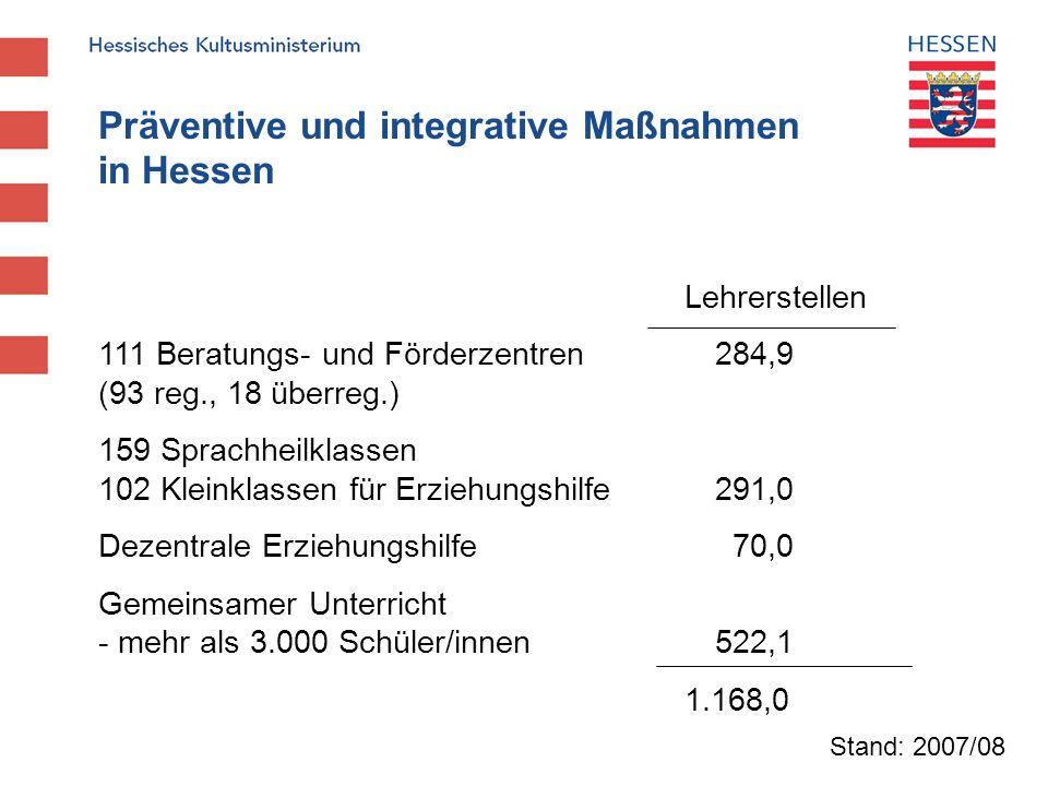 Präventive und integrative Maßnahmen in Hessen