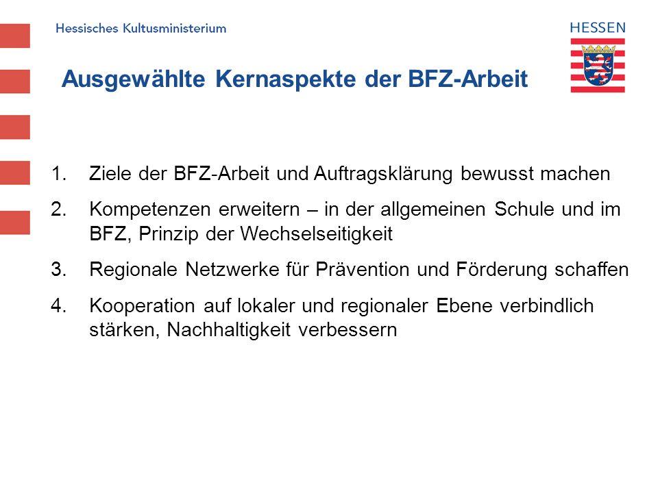 Ausgewählte Kernaspekte der BFZ-Arbeit
