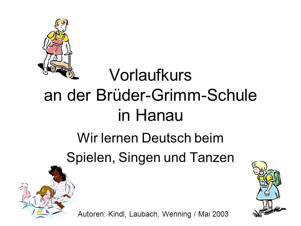 Vorlaufkurs an der Brüder-Grimm-Schule in Hanau