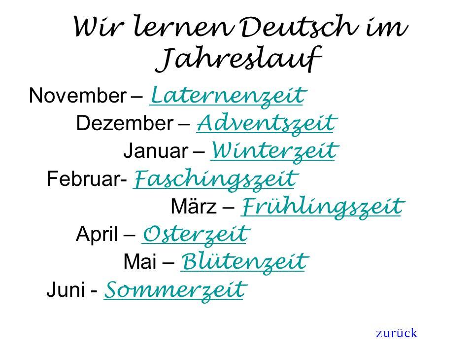 Wir lernen Deutsch im Jahreslauf