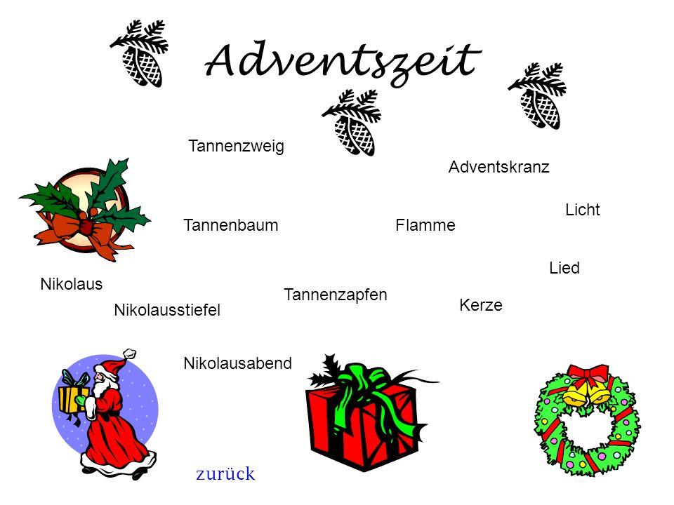 Adventszeit Tannenzweig Adventskranz Licht Tannenbaum Flamme Lied