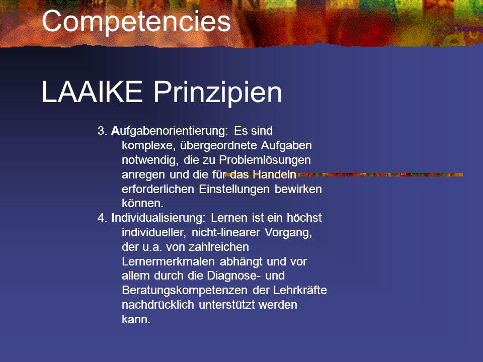 Competencies LAAIKE Prinzipien