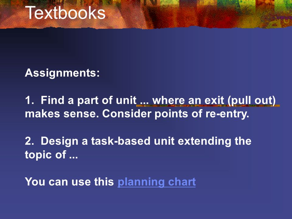 Textbooks Assignments: