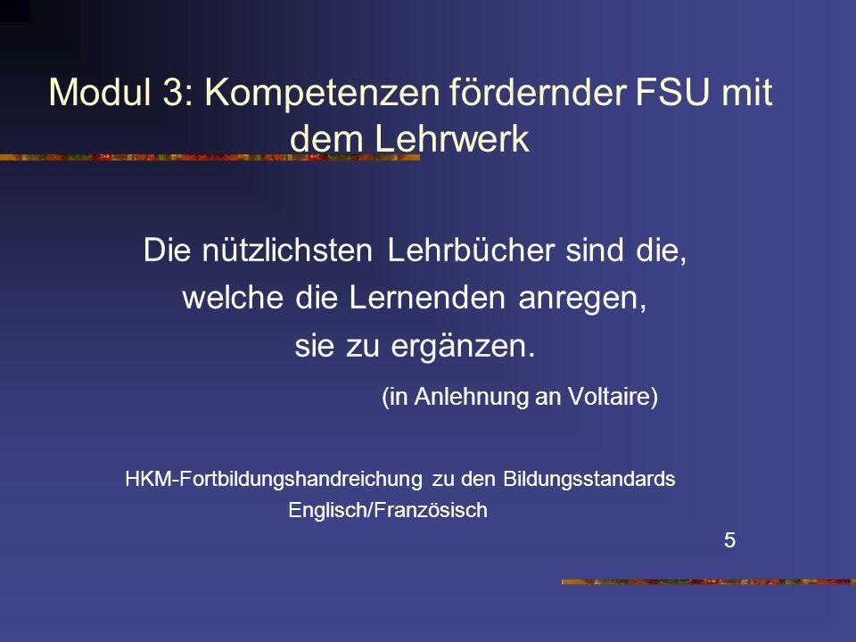 Modul 3: Kompetenzen fördernder FSU mit dem Lehrwerk