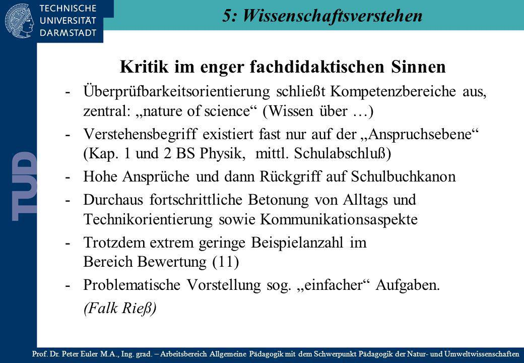 5: Wissenschaftsverstehen
