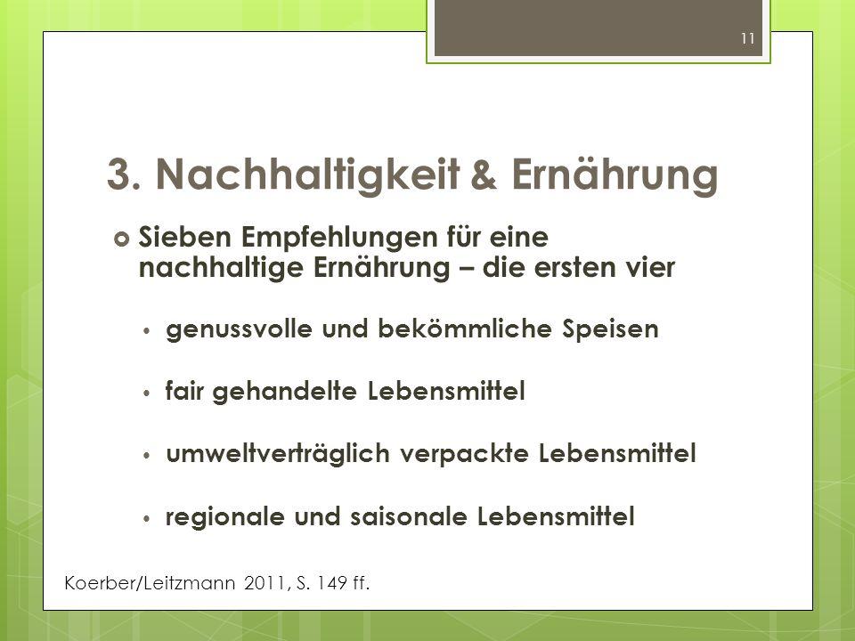 3. Nachhaltigkeit & Ernährung