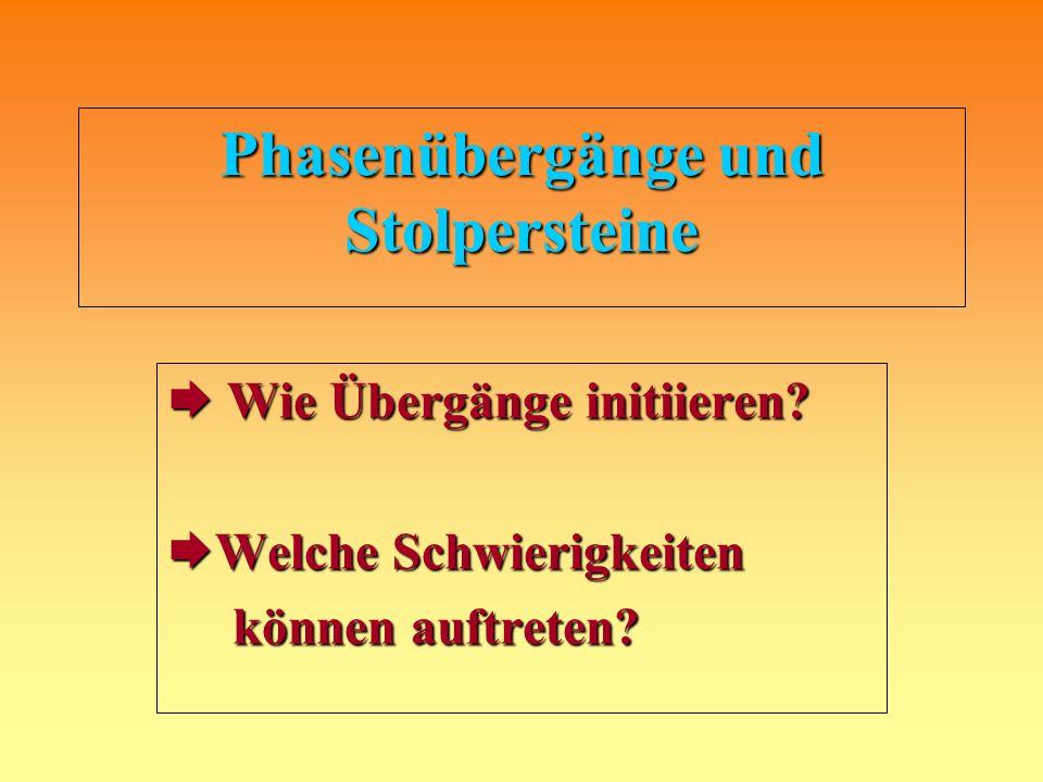 Phasenübergänge und Stolpersteine