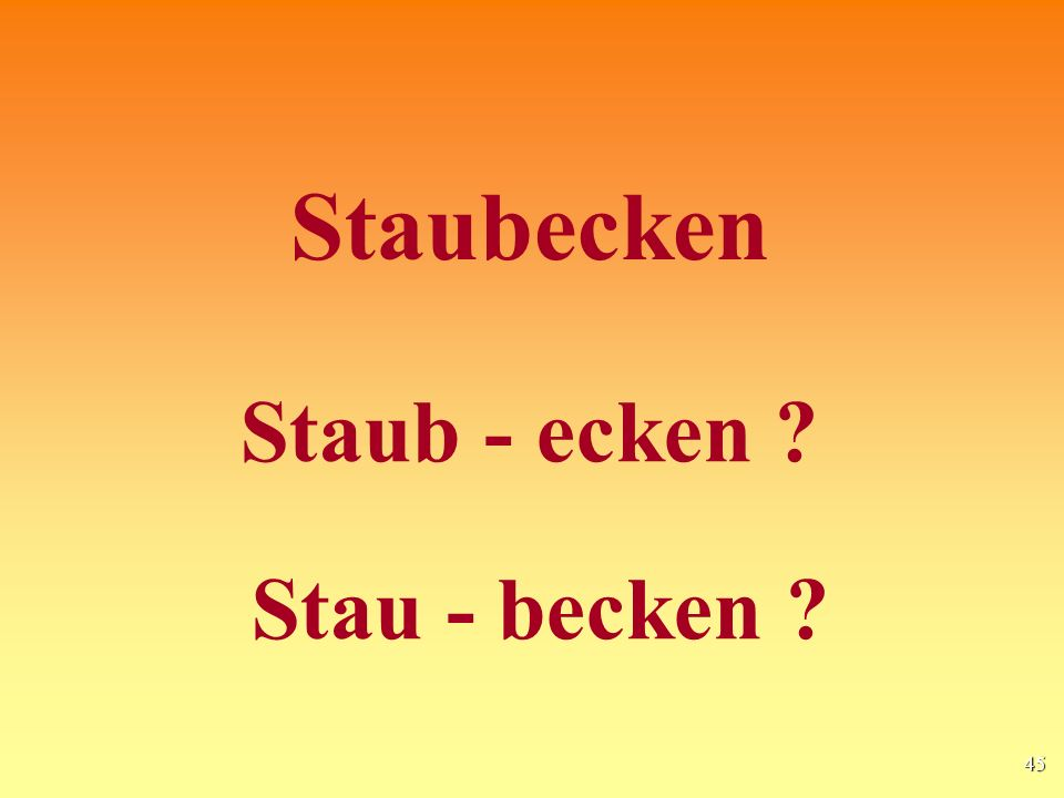 Staubecken Staub - ecken Stau - becken