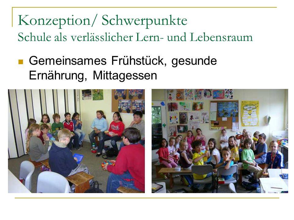 Konzeption/ Schwerpunkte Schule als verlässlicher Lern- und Lebensraum