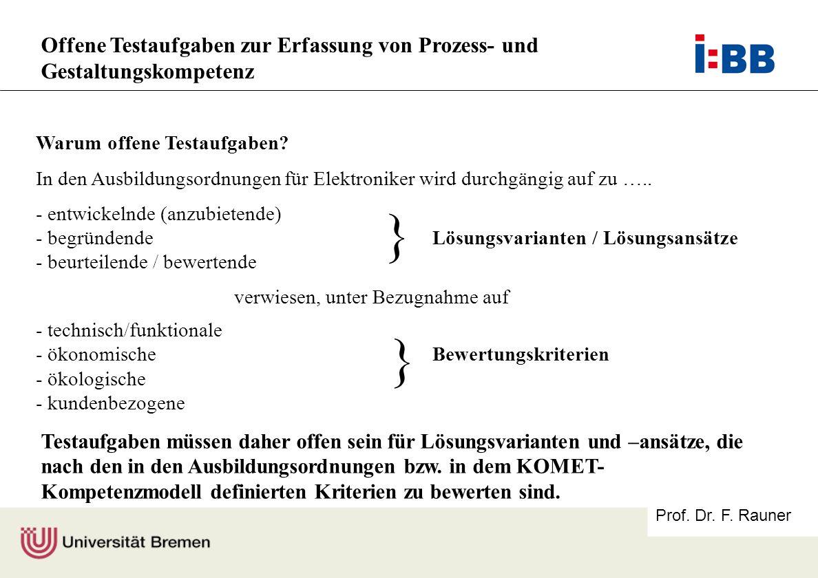 Offene Testaufgaben zur Erfassung von Prozess- und Gestaltungskompetenz