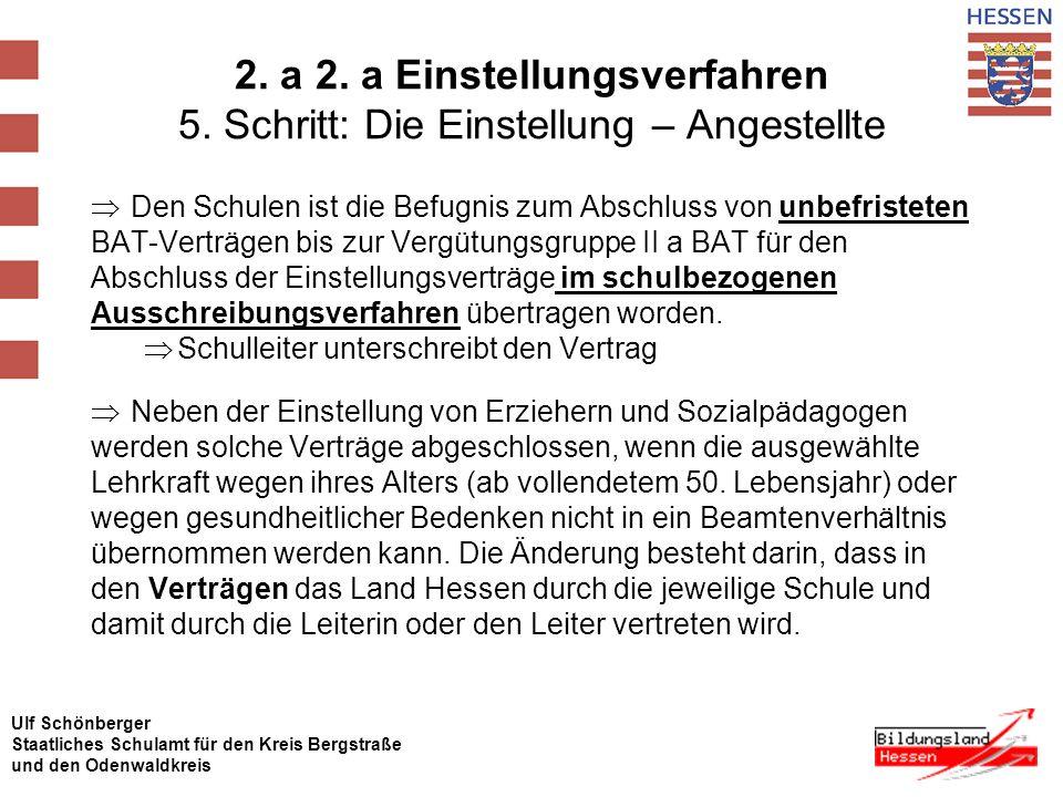 2. a 2. a Einstellungsverfahren 5