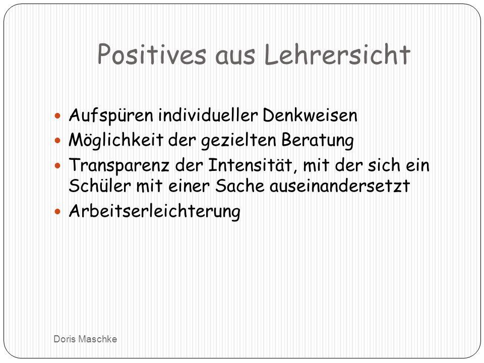Positives aus Lehrersicht