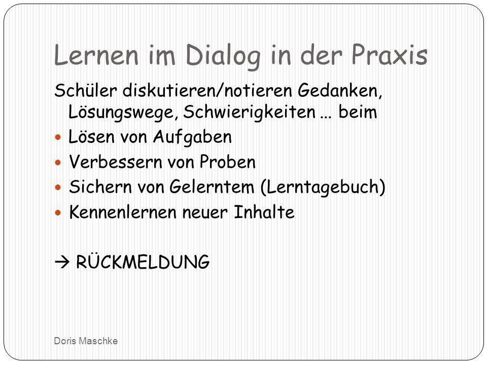 Lernen im Dialog in der Praxis