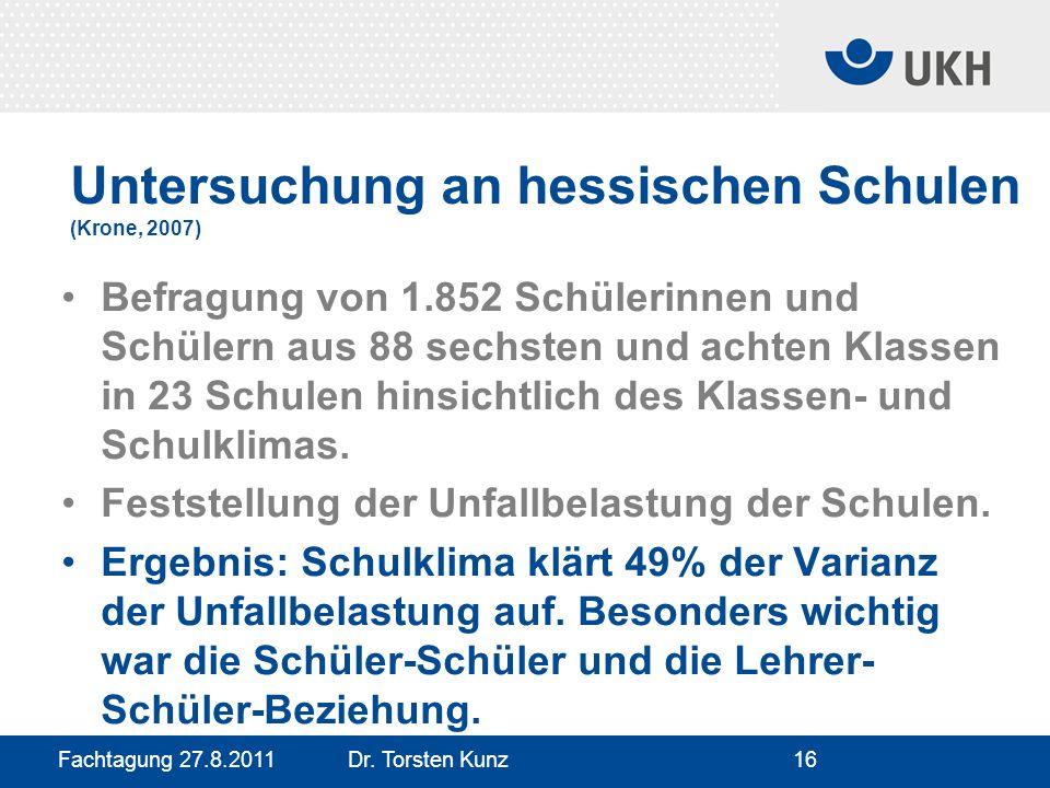 Untersuchung an hessischen Schulen (Krone, 2007)