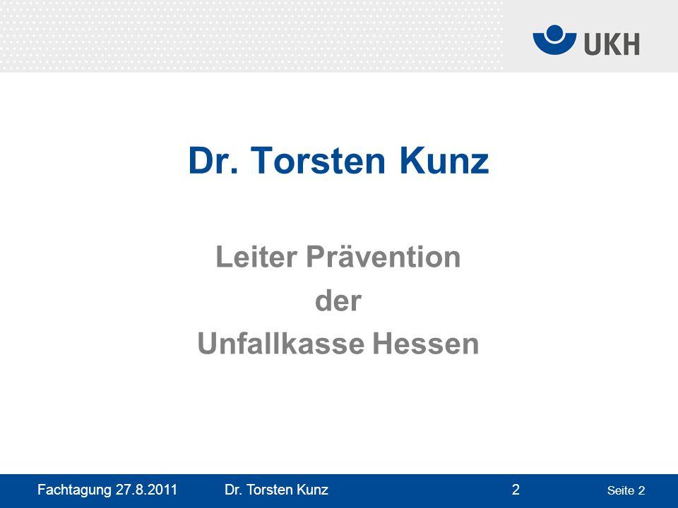 Dr. Torsten Kunz Leiter Prävention der Unfallkasse Hessen