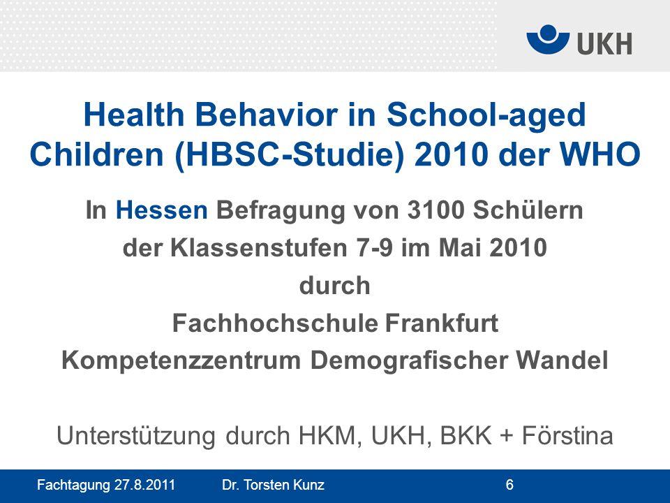 Health Behavior in School-aged Children (HBSC-Studie) 2010 der WHO