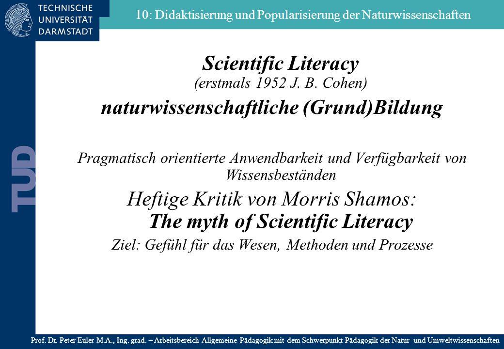 10: Didaktisierung und Popularisierung der Naturwissenschaften