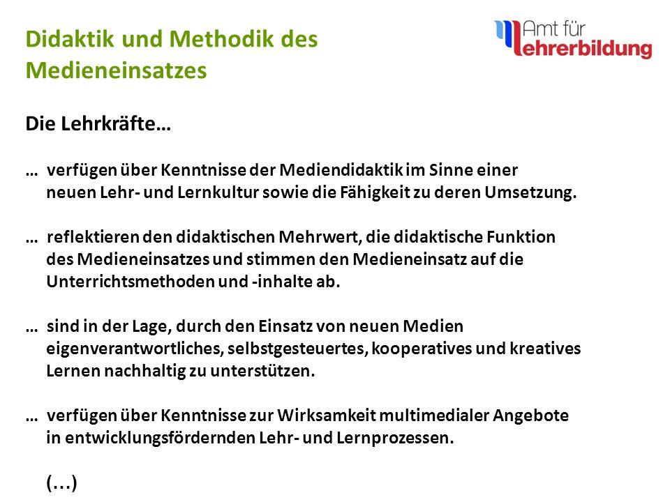 Didaktik und Methodik des Medieneinsatzes