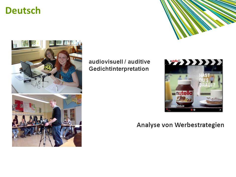 Deutsch Analyse von Werbestrategien audiovisuell / auditive