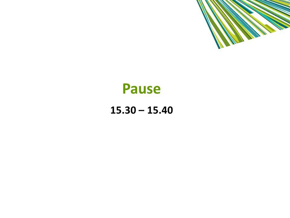 Pause 15.30 – 15.40