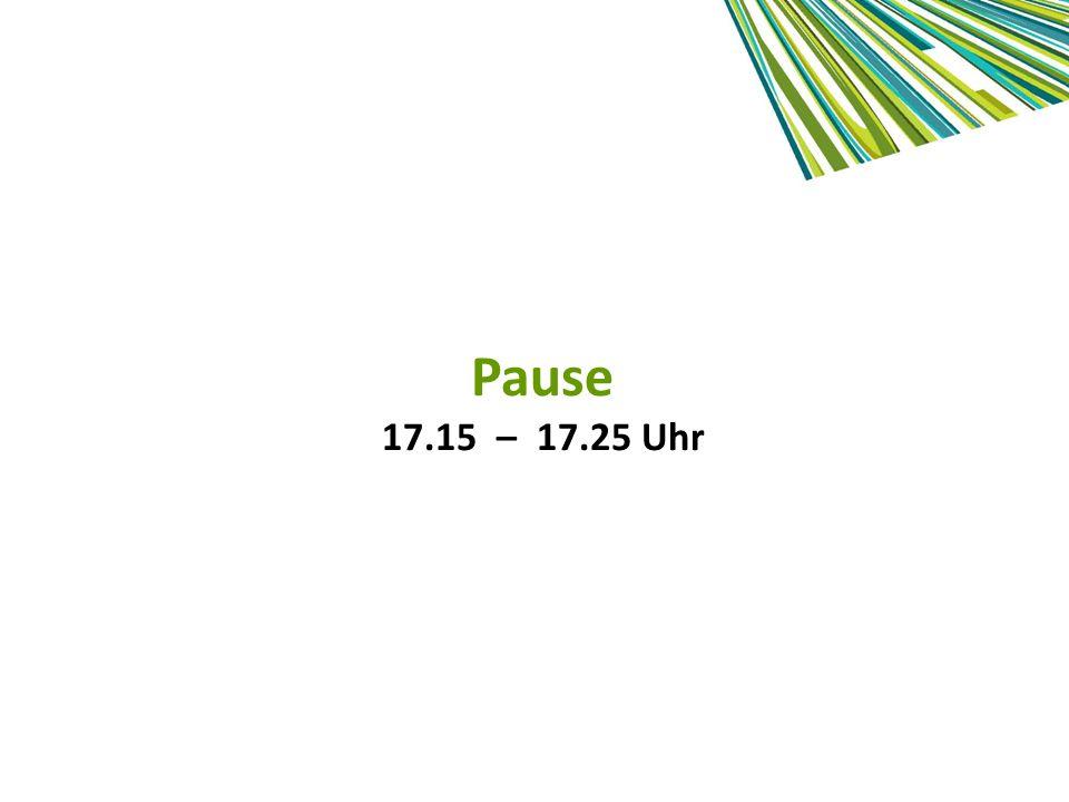 Pause 17.15 – 17.25 Uhr