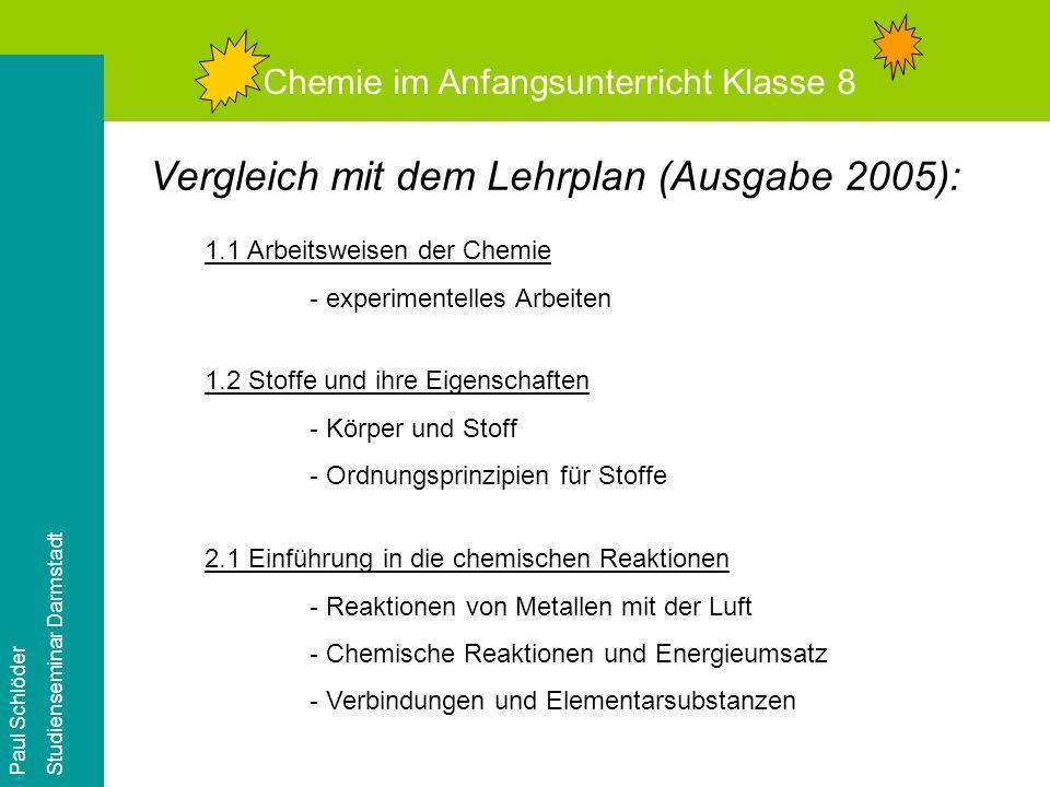 Vergleich mit dem Lehrplan (Ausgabe 2005):