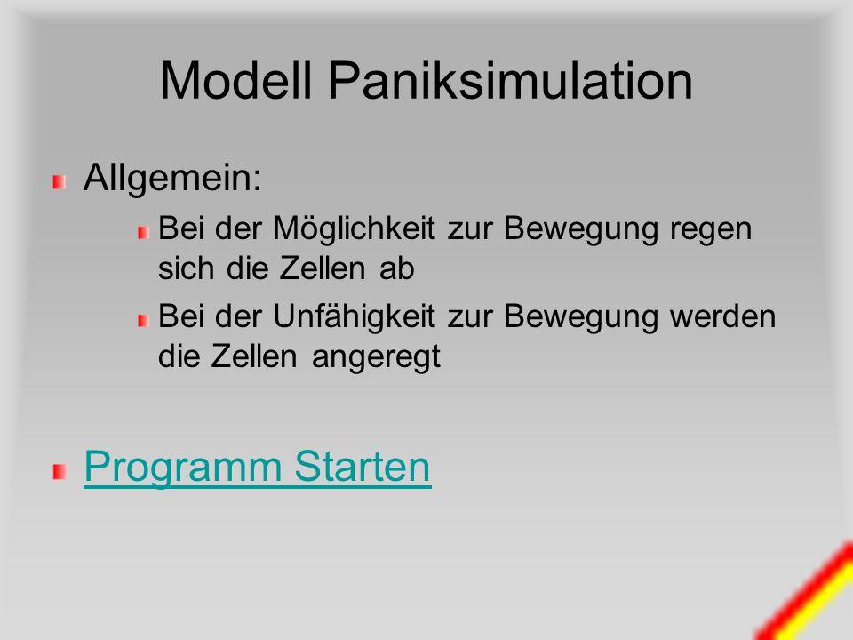Modell Paniksimulation