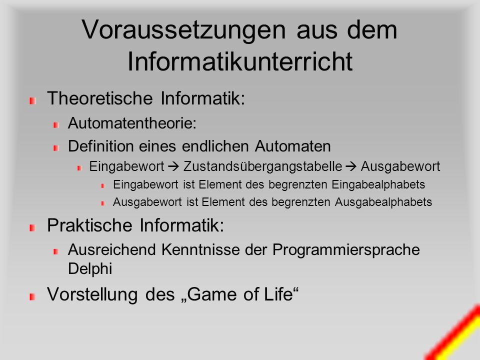 Voraussetzungen aus dem Informatikunterricht