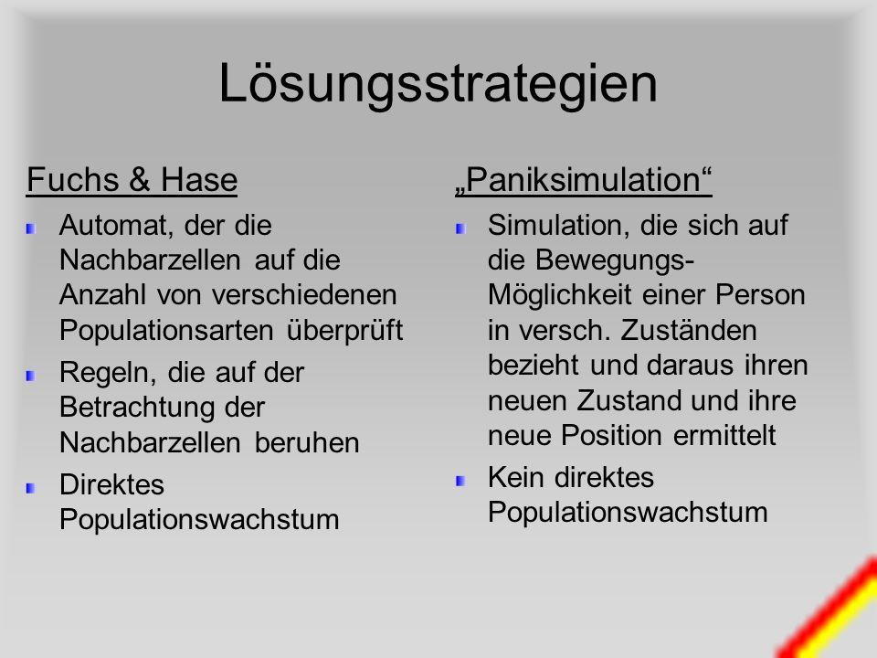 """Lösungsstrategien Fuchs & Hase """"Paniksimulation"""