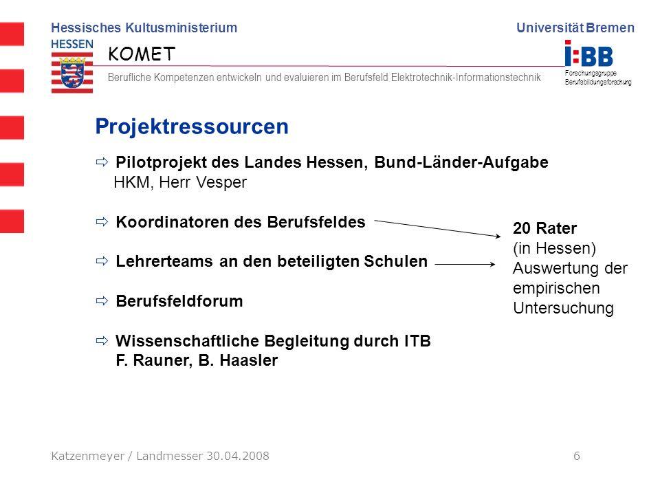 Projektressourcen Pilotprojekt des Landes Hessen, Bund-Länder-Aufgabe
