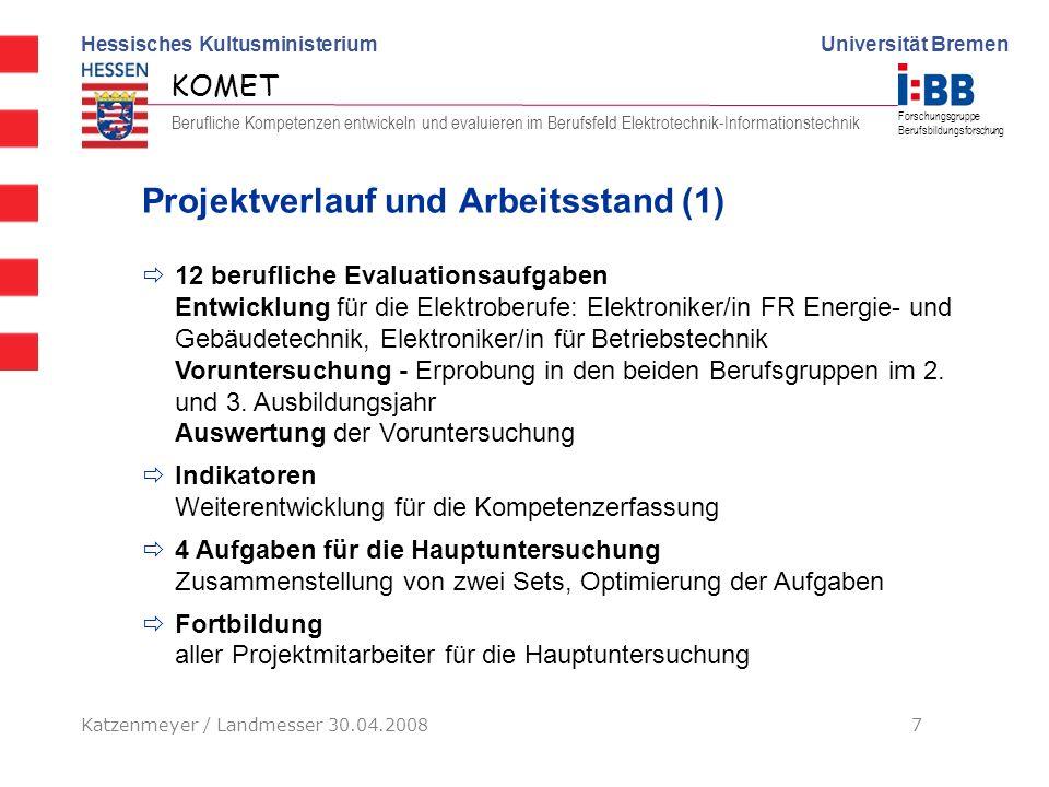 Projektverlauf und Arbeitsstand (1)
