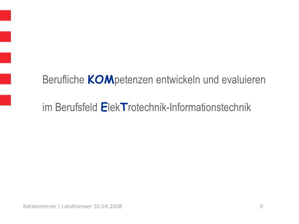 EndeBerufliche KOMpetenzen entwickeln und evaluieren im Berufsfeld ElekTrotechnik-Informationstechnik.