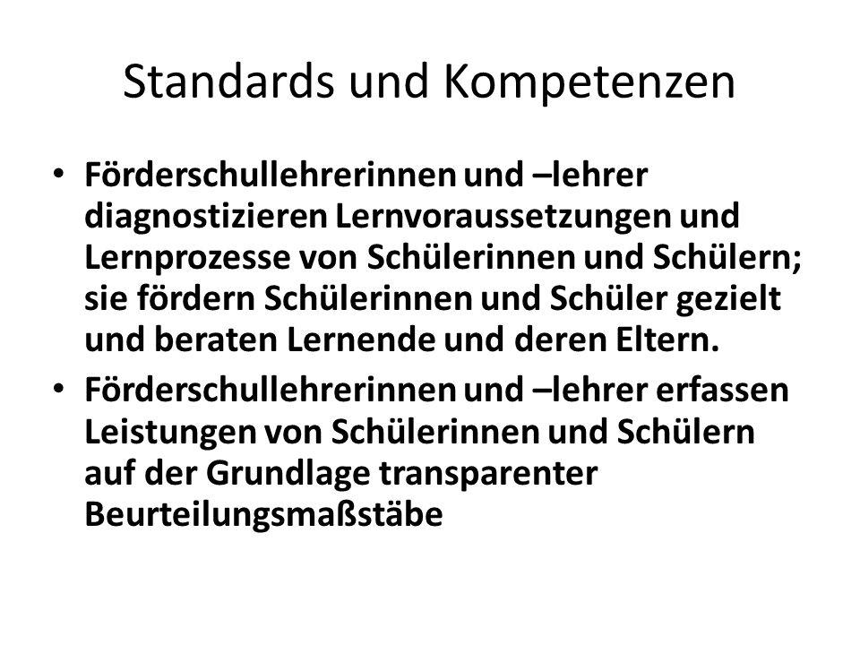 Standards und Kompetenzen