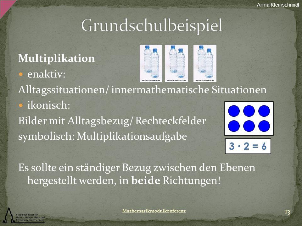 Grundschulbeispiel Multiplikation enaktiv: