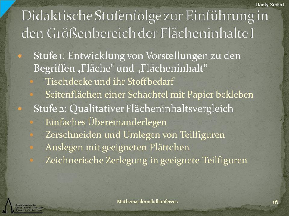 Hardy Seifert Didaktische Stufenfolge zur Einführung in den Größenbereich der Flächeninhalte I.