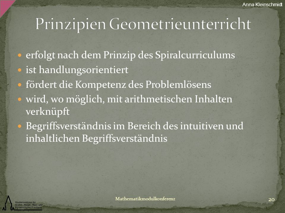 Prinzipien Geometrieunterricht