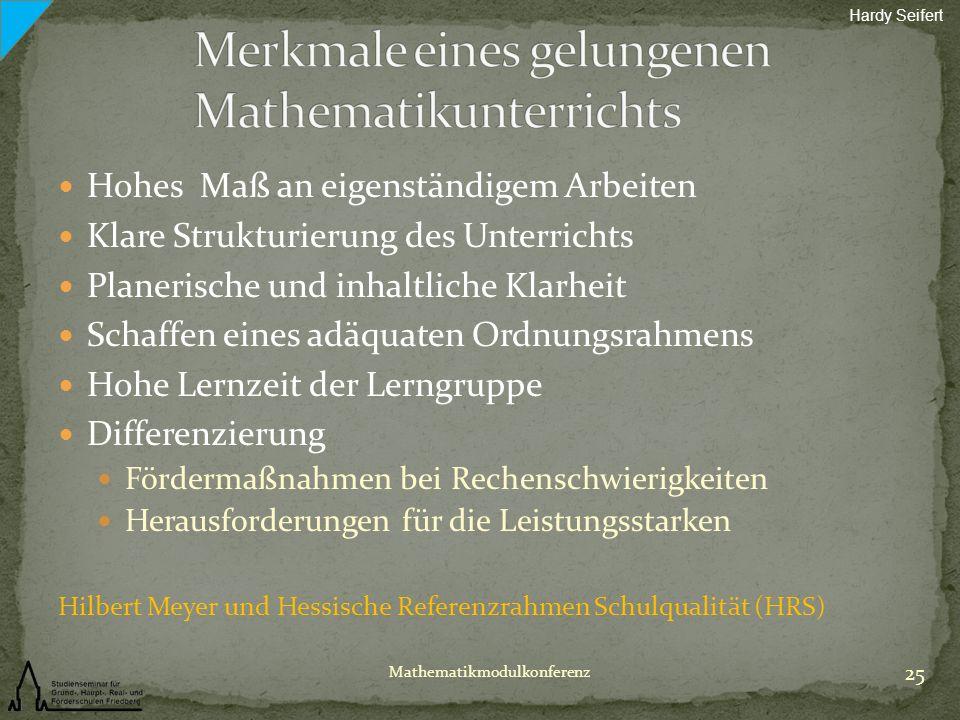 Merkmale eines gelungenen Mathematikunterrichts